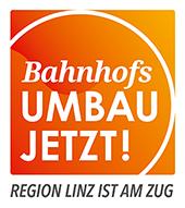Bahnhofsumbau jetzt Logo